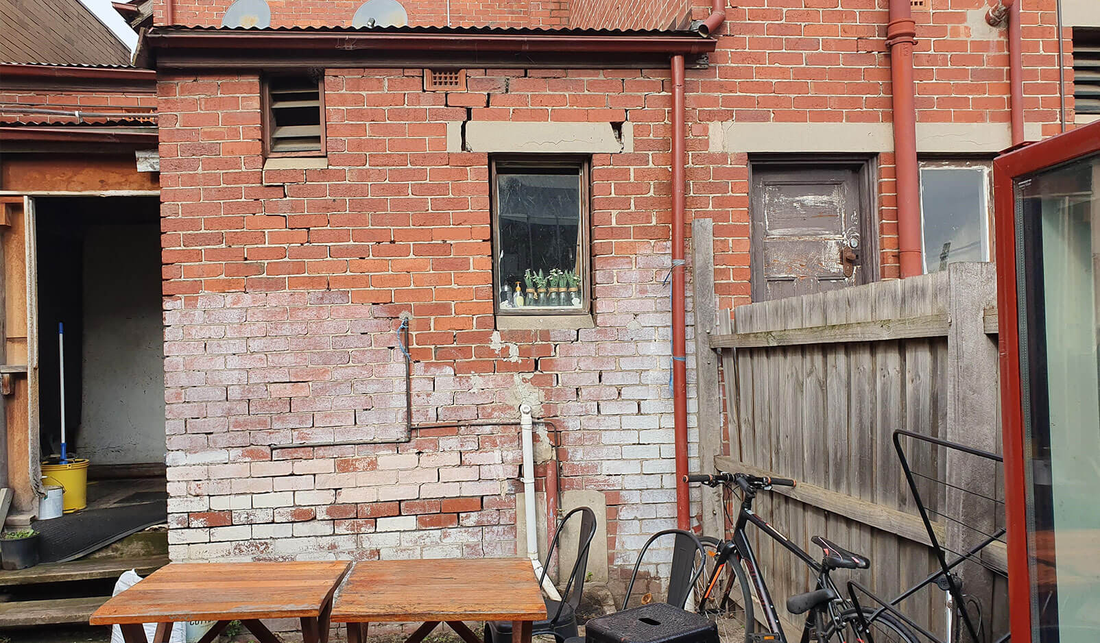 81a Wellington Back Wall Before 2